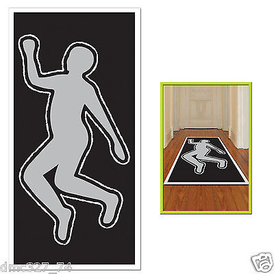 HALLOWEEN Party Decoration Photo Prop CHALK Body Outline SILHOUETTE Crime - Crime Scene Halloween