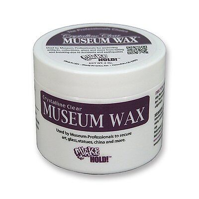 New   Quake Hold    2 Oz  Crystalline Clear Museum Wax   Free Shipping