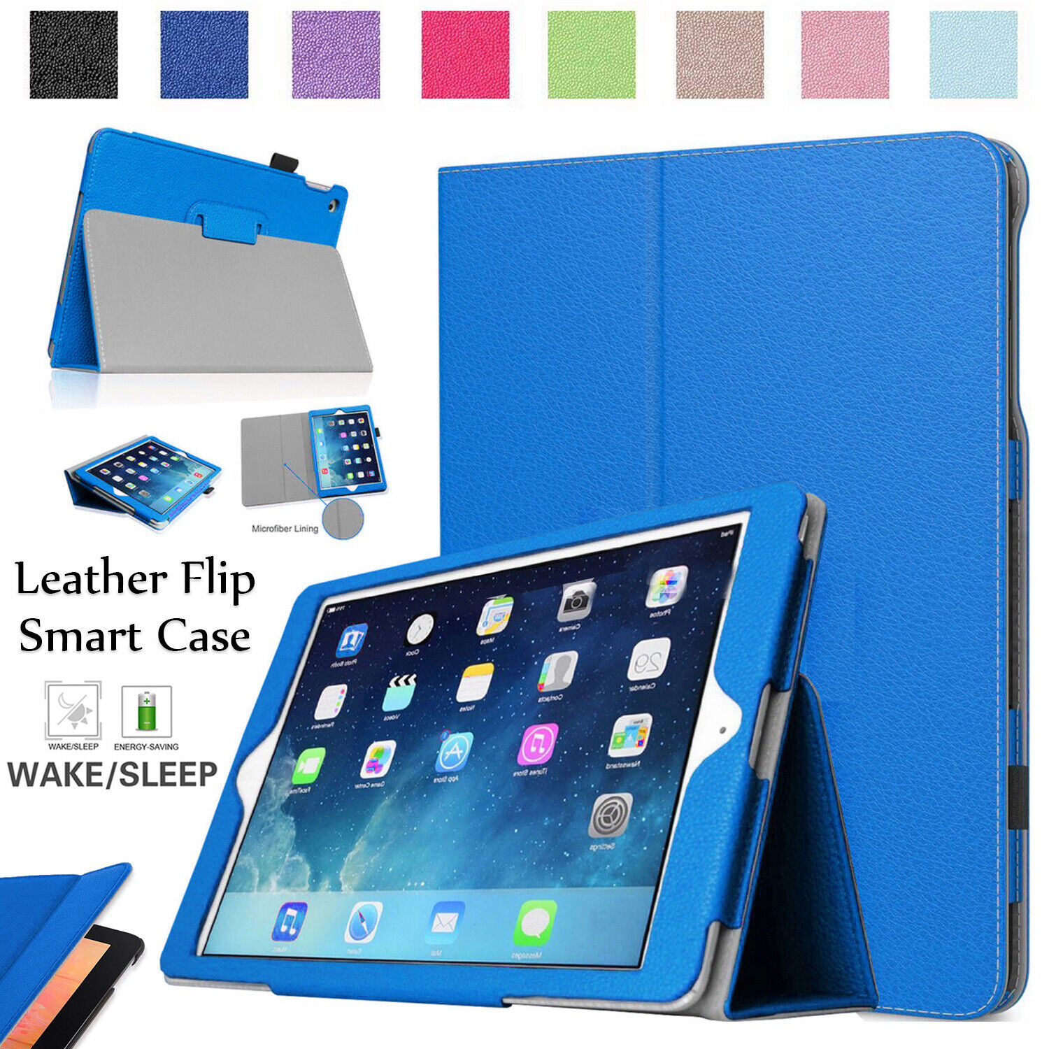 slim smart leather stand flip case cover