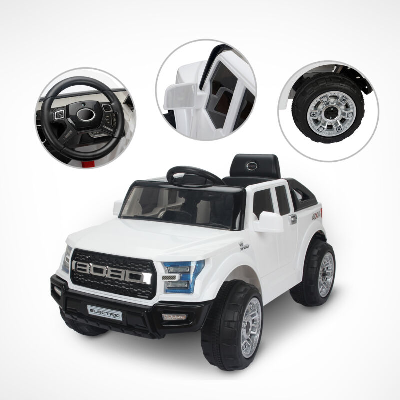 #Elektroauto Kinderauto Kinder Fahrzeug Kinder Elektro Jeep Weiß Spielzeug Junge#