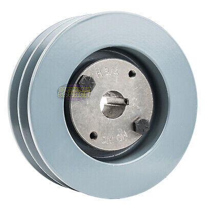 B Section Dual Groove 2 Piece 5 Pulley W 34 Sheave Shiv Cast Iron 5l V Belt