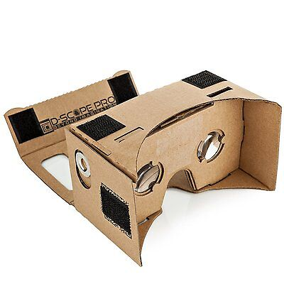 D Scope Pro Google Cardboard Kit 3D Virtual Reality Sweatshield Machine Cut