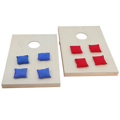 Unfinishe CornHole Lawn Bean Bag Toss Game Set Portable Foldable Wooden 3 x 2 FT Backyard Games