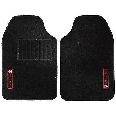 2pc Dodge logo Front black Carpet Floor Mats Universal