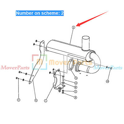 Muffler Silencer At180534 For John Deere Bulldozer 450g 550g 650g