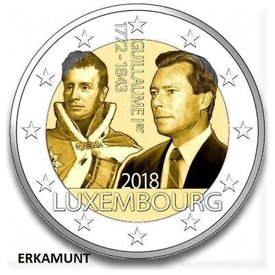 2 Euro Gedenkmünze Luxemburg 2018, Großherzog Guilaume I