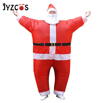 Santa Claus Inflatable Chub Suit Costume with Beard Hat Christmas Party Dress ](Costume With Beards)
