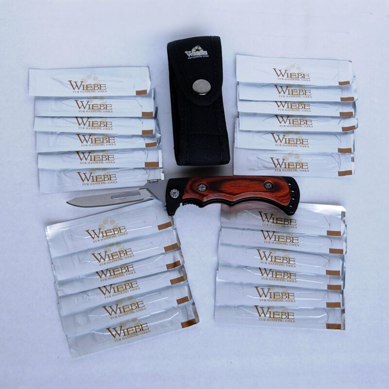 Wiebe Vixen Wicked Sharp Folding Scalpel Knife with 24 Replacement Blades