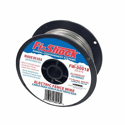 Fi-shock Fw-00018d Electric Fence Wiring With Aluminum Wire 17 Gauge 250