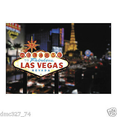 CASINO Poker Night Party Decoration BACKDROP Photo Prop LAS VEGAS Strip 3 pc - Casino Night Decor