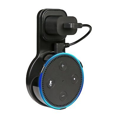 Echo Dot Wall Mount Stand Holder Stand for Amazon Alexa Echo Dot 2 Black