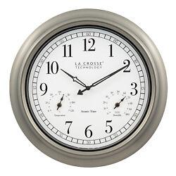404-1946 La Crosse Technology 18 Indoor/Outdoor Atomic Wall Clock - Refurbished