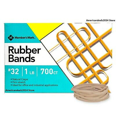 Members Mark Rubber Bands 32 1lb Box Approximately 700 Bands - Free Ship