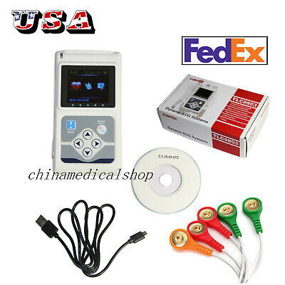 Dynamic 24 Hours 3 Channel Ecg Holter Ekg System Portable Ecg Monitor Software