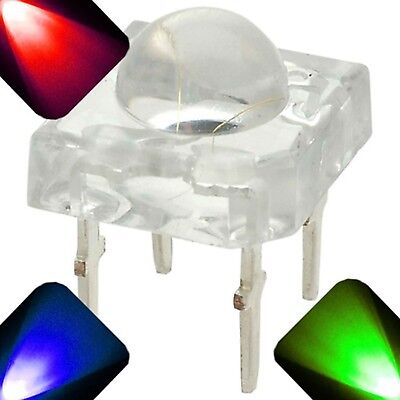 20 X Led 5mm Super Bright Piranha Led - Rgb - Common Anode Red Green Blue Flux