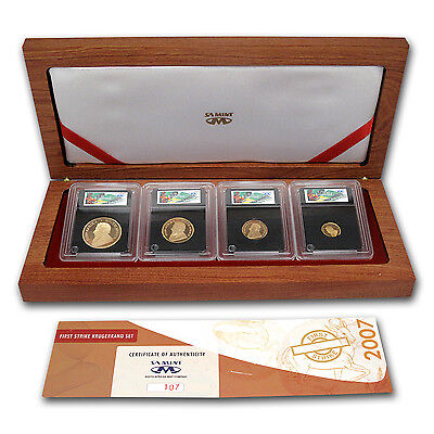 2007 South Africa 4-Coin Gold Krugerrand Proof Set (FS) - SKU #59329