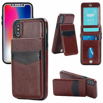 Luxury Leather Card Holder Wallet Stand Cover Case iPhone 6 7 8 Plus X XR 11 Max