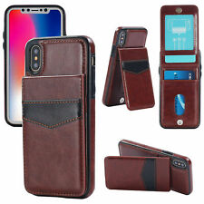 Luxury Leather Card Holder Wallet Stand Cover Case iPhone 6 7 8 Plus XS 11 Max