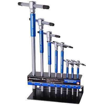 Allen T-handle Hex Key (Powerbuilt 8 Pc Metric T-Handle Hex Allen Key Wrench Set w/Storage Rack -)