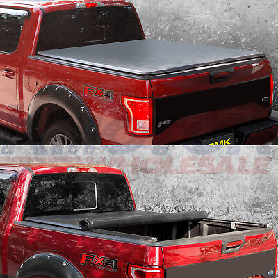 Tonneau Cover Lock Soft Roll Up With 65 FT 78 Bed For Ford F 150 2004 2014
