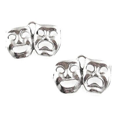 Silver Comedy Tragedy Mask Charms, Metal Theater Drama 15x21mm (20 Pieces)](Tragedy Mask)