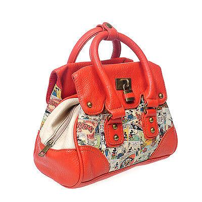 E13.Disney Mickey Mouse Women Small Tote Bag Handbag Cross Body Shoulder Bag