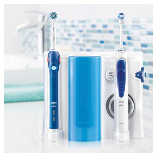Oral-B Mundpflege-Center mit PRO 2000 Elektrische Zahnbürste+OxyJet Munddusche