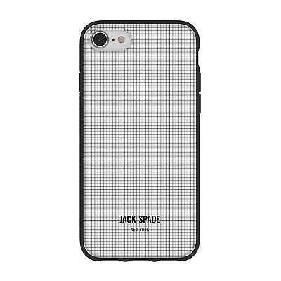 JACK SPADE Printed Graph Check Strong Tough Clear Case for iPhone 7/8