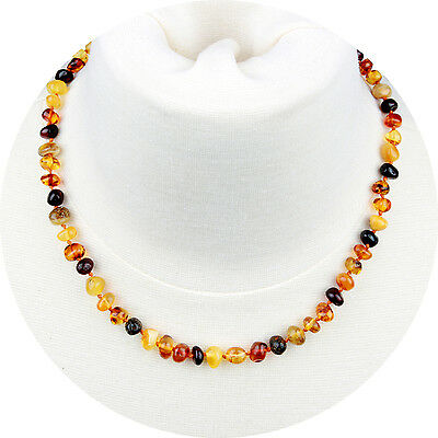 Adult Baltic Amber Necklace for Women, Men & Adults (Unisex - Multicolor - 18