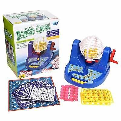 Deluxe Bingo Cage Game Lottery Toy Set Party Fun Game with All Accessories (Bingo Party)