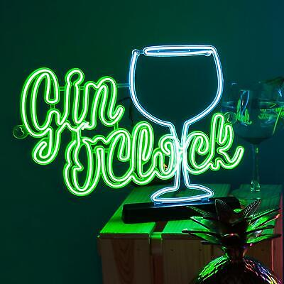Gin O'clock Neon Effect Sign Light Electro Luminescent Sign