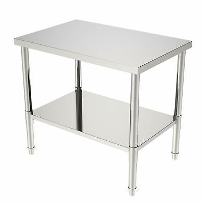 New 24x36x32 Kitchen Stainless Steel Heavy Duty Food Prep Work Table Silver