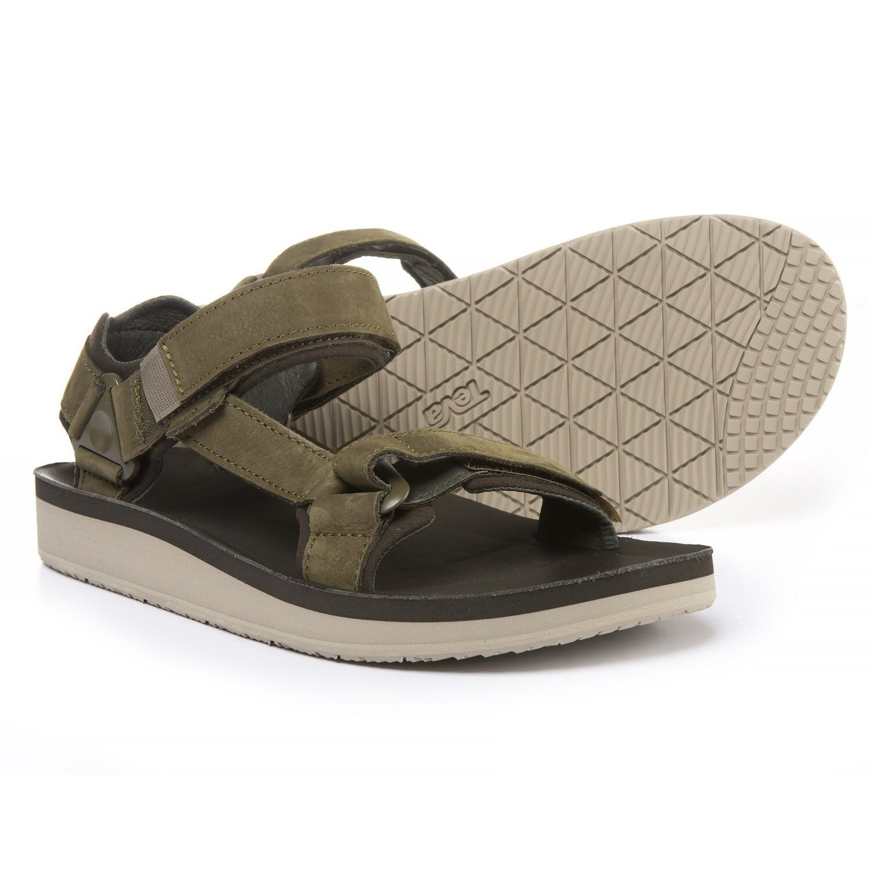 New Men`s Teva Original Universal Premier Leather Sandals 1015928