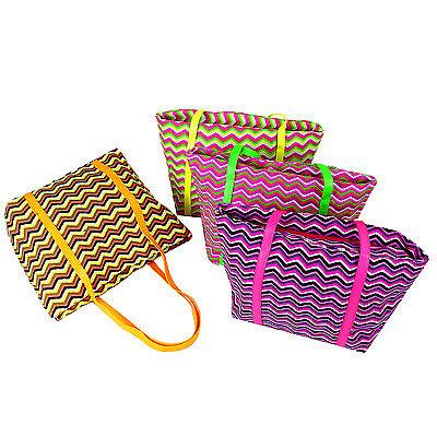 Tasche Shopper Strandtasche Beachbag Badetasche Sauna Urlaub Sommer neon bunt - Große Neon Tote Taschen