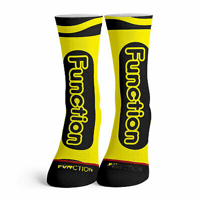 Function - Yellow Crayon Socks Funny costume Halloween crayola color matching