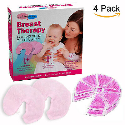 Breast Therapy Gel Pads Nursing Moms Hot And Cold Gel Pads with Sleeve Covers