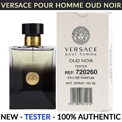 Versace Pour Homme Oud Noir Eau de Parfum for Men Spray 3.4 oz 100ml NEW TESTER