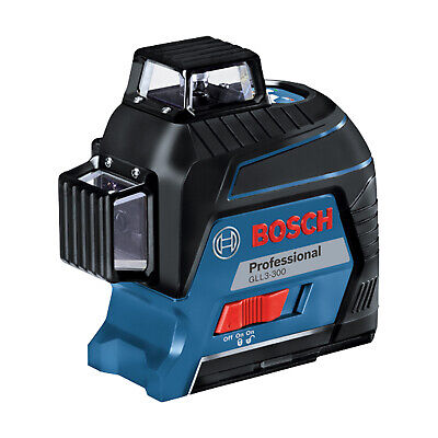 Bosch Gll3-300 360 Degree 3 Plane Leveling And Alignment Line Laser Red Beam