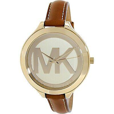 Michael Kors Women's Slim Runway MK2326 Brown Leather Quartz Fashion Watch