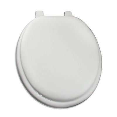 - White Soft Padded Cushion Toilet Seat Round Standard Size New Solid Color