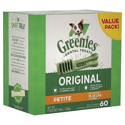 Greenies Original Petite Dental Holiday Dog Treats, 36 Oz. Pack (60 Treats)