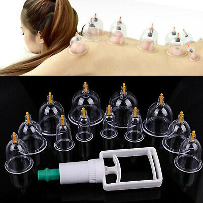 12 Cups/set Medical Chinese Vacuum Cupping Body Massage Therapy Healthy -