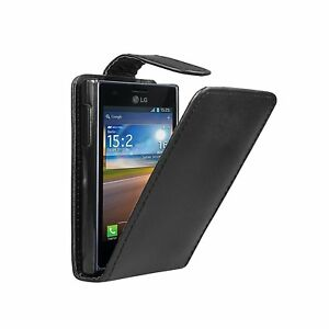 Black-Leather-Flip-Vertical-Case-for-LG-E400-Optimus-L3-phone-cover-pouch