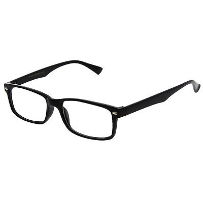 Black Interview Smart Looks nerd Fashion Rectangular Clear Lens Eye Glasses (Nerd Look Glasses)
