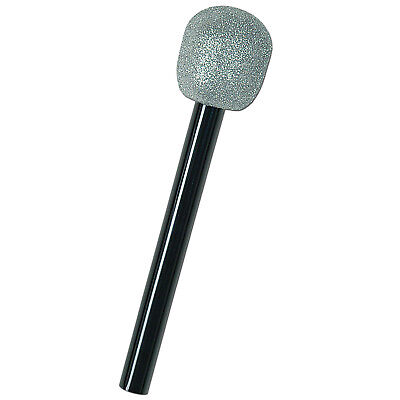 Glittered Toy Microphone Movie Musical Prop  Costume Accessory Lip Sync Battle