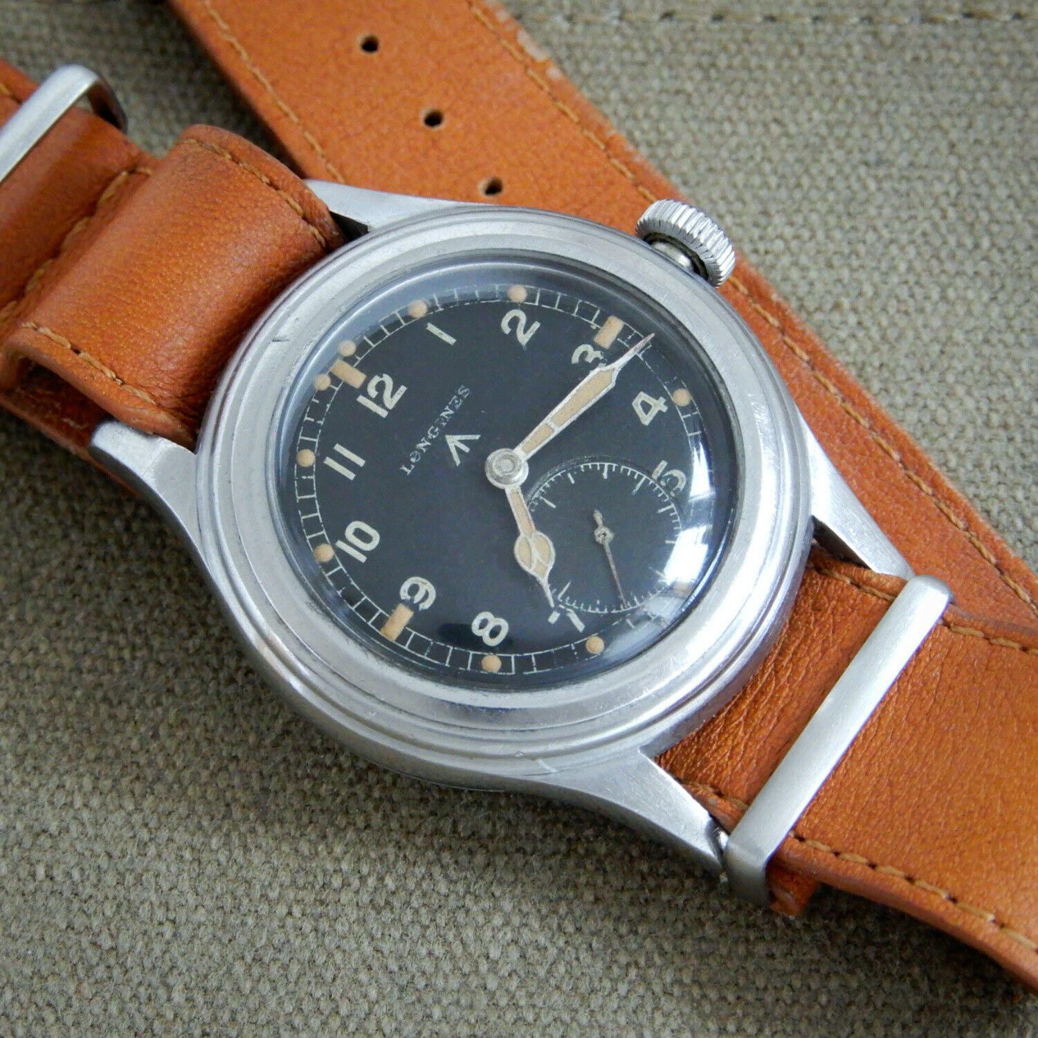 Longines Greenlander Military 12.68z Dirty Dozen Watch ALL ORIGINAL + Extract - watch picture 1