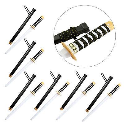 6x Japanisches Schwert Samurai Ninja Spielzeug Schwert Fasching Karneval Cosplay ()