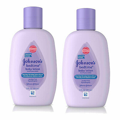 (2 Pack) NEW Johnson's Bedtime Baby Lotion 3 Ounces ()