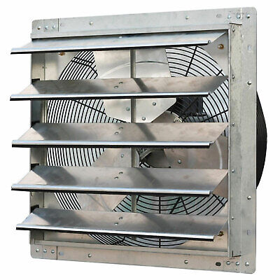 iLIVING 20 Inch Variable Speed Shutter Exhaust Fan, Wall-Mou