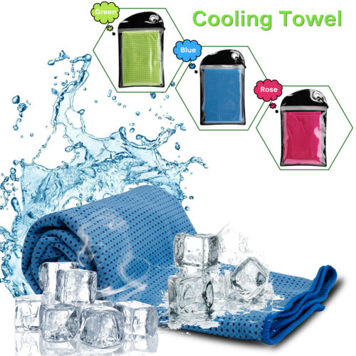 Quick Dry Cooling Soft Towel Chilly Pad Sweat Neck Wrap Gym/Cycling/Running/Yoga